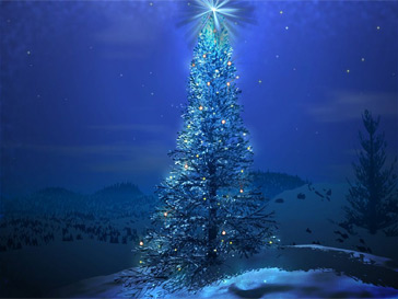 3d kerstboom screensaver